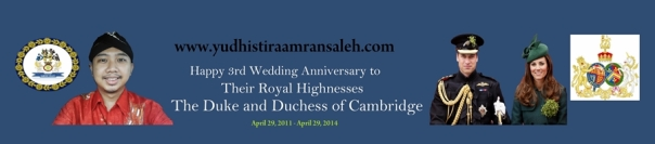 Happy 3rd Wedding Anniversary The Cambridges