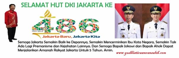 HUT DKI Jakarta Raya ke 486 Tahun