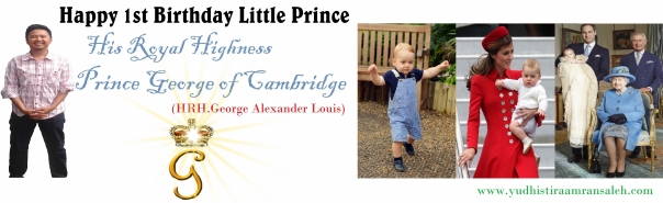Happy 1st Birthday Prince George of Cambridge