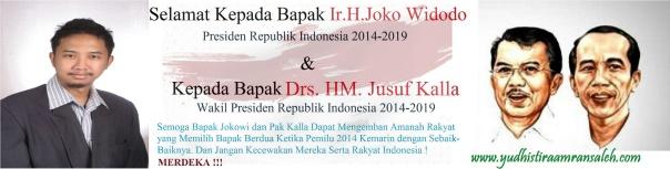 Presiden Jokowi & Wakil Presiden Jusuf Kalla