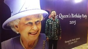 Senang banget waktu bisa hadir di acara Perayaan Ulang Tahun Ratu Elizabeth II di Shangri-La Hotel